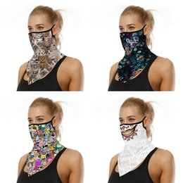 Wholesale animation cosplay for sale - Group buy Outdoor Bandana Hiking Dustproof Mouth Protect Magic Scarf Neck Gaiters Cosplay Animation Triangle Scarf Cycling Sports Mask