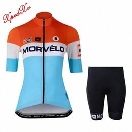Wholesale team apparel online – design Morvelo Women s cycling kit Team Pro cycling apparel Summer short sleeve Jersey and bib shorts set MTB jersey riding suits N5qy