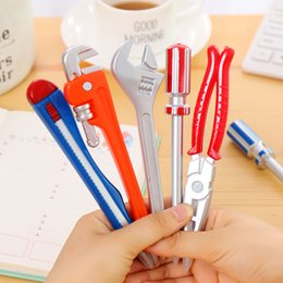 wholesale magnet pen Australia - Hardware Tools Ball Pen Magnet Ballpoint Pen Screwdriver Hammer Plier Students Prize Favor Kids Toys WJ051