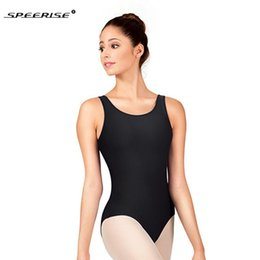 spandex ballet Australia - SPEERISE Adult Bodysuit Ballet Sleeveless U- Neck Leotard Nylon Spandex Unitard Dancewear Gymnastics Tank Leotard For Sale Women