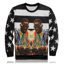 biggie smalls sweatshirt UK - Hot Super Rap Star Fashion 3D Printed Sweatshirts Hip Hop Singer Biggie Smalls Hoody Rock Crewneck Tops Mens Hoodies Pullover