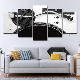 modern music oil painting UK - 5 Pieces set Music Player Canvas Oil Painting Art Wall Picture Living Room Modern Home Decoration Home Decor Decorative Handcrafts HD Print