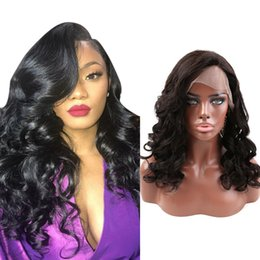 Discount long hairstyles black hair Greatremy® Natural Hairline Brazilian Indian Glueless Full Lace Wig Loose Wave Virgin Human Hair Lace Front Wig for Black Women