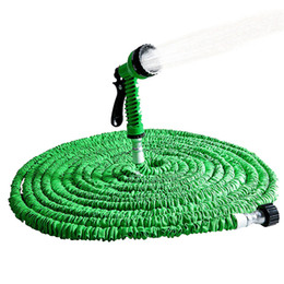 expandable magic hose Canada - Extensible Garden Hose Expandable Flexible Water Hose Plastic Gun Magic Telescopic Hose For Watering Stretchable Irrigation Pipe T200715