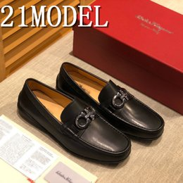male chain models Canada - 18ss 2020 NEW Fashion Genuine Leather Men Loafers Comfortable Slip-On Casual Shoes Men Flat Moccasins For Male Footwear 21 model 38-46