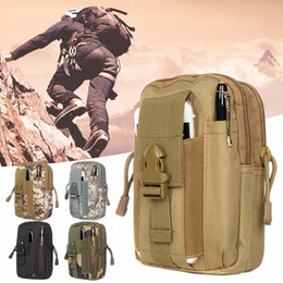 wholesale tactical pouches UK - Outdoor Tactical Molle Pouch Canvas Handbags Belt Waist Backpack School Bag Hiking Trip Pack Multiple Styles gsbL#