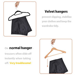 trace pants NZ - No Trace Flocking Hanger Non Slip Clothes Hanger Plastic Coat Hangers Pant Hangers Windproof Clothe Rack Home Hanger Rack VT0403
