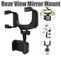 Universal Car Phone Holder Car Rearview Mirror Mount Phone Holder 360 Degrees GPS Smartphone Stand With Retail Package