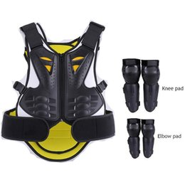 full body protector motocross UK - Children's Motorcycle armor Baby Youth Full Body Protector Armor With Knee Elbow Guard Motocross Vest Protection