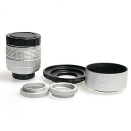 m3 adapter NZ - Silver 50mm f 1.4 CCTV F1.4 camera Lens + adapter+ Lens Hood + Macro Ring for Canon EOS M EOS M2 M3 M10