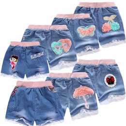 girls new jeans embroidery Canada - 2020 new summer girl denim Embroidery Embroidered and shorts printing cute soft denim shorts generation