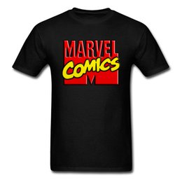 types t shirts necks UK - Cheap Newest T Shirt Marvel Comics Icon Red Typography Men T-Shirts Type Cotton 100% Print Tops Male Sweatshirts Hot Sale