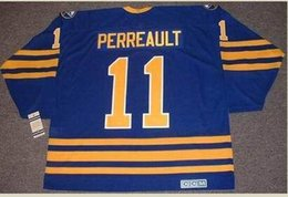 gilbert perreault jersey Canada - Custom Men Youth women Vintage #11 GILBERT PERREAULT Buffalo Sabres 1984 CCM Hockey Jersey Size S-5XL or custom any name or number