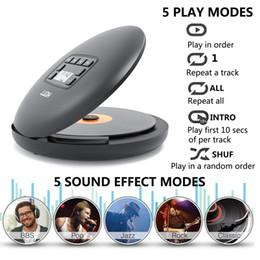 HOTT CD204 Şarj edilebilir CD Çalar Bluetooth müzik keyfi için şarj edilebilir batarya LED ekran kişisel CD Walkman ile taşınabilir CD Çalar