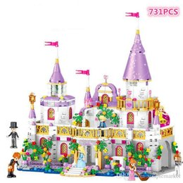 plastic castle building blocks UK - 731pcs ids building blocks Children's puzzle building blocks gift box set Princess castle DIY toys children gifts birthday gifts kids toy