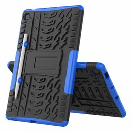 cover samsung galaxy s6 UK - Hybrid KickStand Impact Rugged Heavy Duty TPU+PC Cover Case FOR Samsung Galaxy Tab S6 Lite 10.4 P610 20PCS LOT