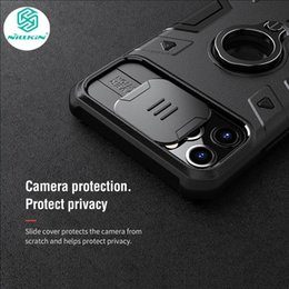 privacy iphone 11 pro Canada - NILLKIN Max Case Ring phone stand holder Slide Camera Protect Privacy Back Cover For iPhone 11 Pro anti-fall