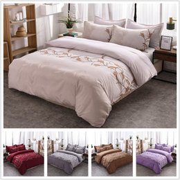 simple pillowcase pattern Australia - Floral Bedding Sets Polyester Simple Flower Pattern Reactive Printing Queen King Size Duvet Cover Set Pillowcases 80174