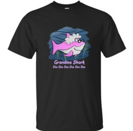 cheap shark UK - Cheap Grandma Shark Cool T-Shirt Mens T Shirt Men Tshirt For Men Clothes Summer Short Sleeve Size S-5xl Design Tops