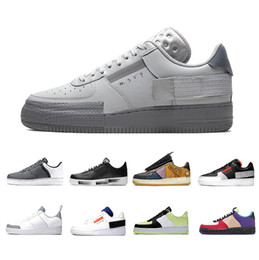 ruído branco venda por atacado-Nike Air Force AF1 Stock X G Dragon N354 Summit White Para Noise Red Mens Running Shoes LV8 Day of Dead men women sports Athletic designer sneakers
