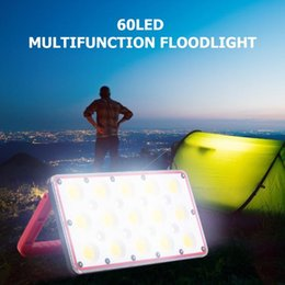 led floodlight emergency rechargeable lamp UK - 60LED Portable Lantern Working Floodlight Multi-functional Practical Durable Rechargeable Emergency Industrial Lamp