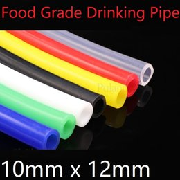 pipe thickness UK - Silicone Tube ID 10mm x 12mm OD Flexible Rubber Hose Thickness 1mm Food Grade Milk Beer Drink Pipe Water Connector Colorful
