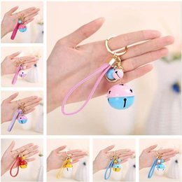 keys bell UK - Epacket DHL free shipping New two-color bell keychain PU leather rope car bag pendant DAKR198 mix order key chain Keychain