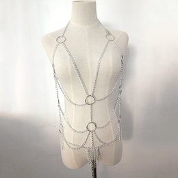 sexy slave clothing UK - SukCY Alternative sexy underwear nightclub role play maid slave metal Underwear iron chain clothes iron chain clothes female game uniform bi