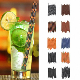 navy blue party supplies NZ - 25Pcs 10 Style Navy Blue Anchor Disposable Paper Drinking Straws For Baby Shower Kids Birthday Party Decoration Supplies ZNKI#
