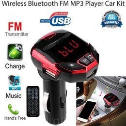 car fm transmitter mp3 player NZ - TF Card FM Transmitter Modulator USB Wireless Bluetooth LCD Car Kit MP3 Player SD Remote Car Electronics Plastic Support MP3 WMA