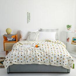 100% Baumwolle Sommer Quilt Imitation Silk Waschbar Cotton Quilt Druck Färben Thin Quilt Cotton Sommer-kühle Bettwäsche Supplies VT1406 im Angebot