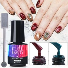 browning nail art UK - 1pcs Cat Eye Gel Polish 7ml Chameleon Magnetic UV LED Gel Varnish Starry Sky Effect Nail Art Soak Off Lacquer Decorations JI1609