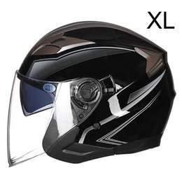 motorcycle helmets black open UK - Unisex Motorcycle Headpiece Summer Breathable Helmet Open Face Cap Head Protect R2LC