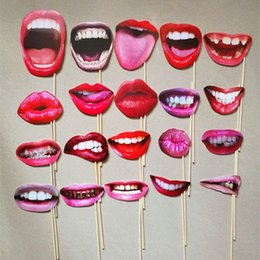 funny photobooth props NZ - VOILEY Lip Mouth DIY Photobooth Props Birthday Party Decorations Adult Funny Lip Mouth DIY Photo Booth Wedding Decoration,8 kVm3#