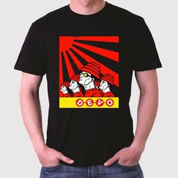 Wholesale devo resale online - New Devo Band Logo Rock Legend Mens Black T Shirt Size S To XL O Neck Short Sleeves Boy Cotton Men qGvI