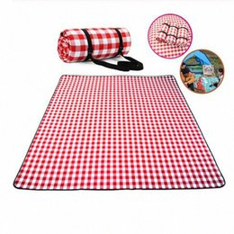 folding picnic mats NZ - Thicken Pad Breathable Soft Blanket For Outdoor Folding Waterproof Blanket Camping Beach Plaid Picnic Mat 5Cno#