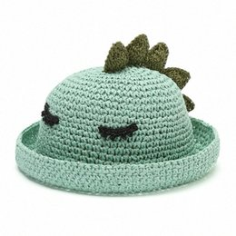 baby dinosaur hat crochet Canada - Cute Baby Hat Summer Straw Bucket Hat Kids Beach Outdoor Sunhat Dinosaur Sun Protection Children Girls Boys Cap 2-4Y 4V5h#