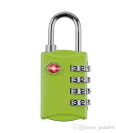 tsa padlocks wholesale Canada - TSA Security Code Luggage Locks 4 Digit Combination Steel Keyed Padlock Approved Travel Lock for Suitcases Baggage 8colors