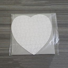 love hearts toys NZ - Sublimation Blank Heart Puzzles DIY Puzzle Heart love Shape Puzzle Hot Transfer Printing Blank Consumables Child Toys Gifts