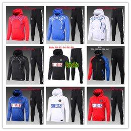 2020 2021 Paris kids hoodie jacket Survetement 20 21 MBAPPE CAVANI Paris air jordam x enfant maillot de foot jacket football training suit on Sale
