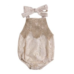 baby lace bodysuit UK - 2017 New Newborn Toddler Infant Baby Girl Lace Jumpsuit Bodysuit Clothes Sleeveless Sunsuit Adorable Clothes