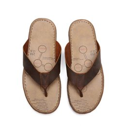 men cow genuine leather slippers NZ - Latest men leather flip flops strong quality various venues slippers good reputation cheap good slippers top quality cow leather cs03