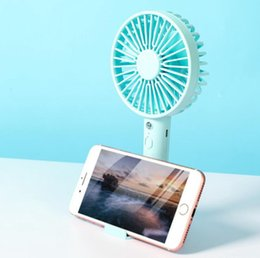 usb fan for phone UK - Desktop Mini Fan Rechargeable USB Handheld Summer Outdoor Portable Phone Stand Fan for Home Office OOA8010