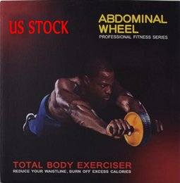 Nosotros stock, rueda muscular abdominal para hombres rollo de hogar para las mujeres de entrenamiento abdominal equipos de gimnasia abdominal de rebote automático en venta