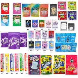 Großhandel Dank Gummies Mylar NERDS SEIL Bites Runtz Gasco WONKA Gummies Chuckles ERRLLI SAUER gushers Carts Plätzchen Angeschlossen Zipper-Beutel Paket schnell