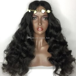 cheap human hair lace fronts UK - Peruvian Virgin Human Hair Wigs Body Wave Lace Front Wigs Cheap Brazilian Indian Malaysian Full Lace Human Hair Wigs For Black Women