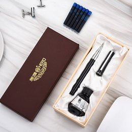 hero fountain pen nib Australia - Hero Fountain Pen with Ink Cartridge Bottle Ink Gift Set Extra Fine Nib 0.38mm Financial Pens with Original Box Office Supplies