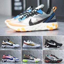 canvas sailing shoes Australia - 2019 React Element 87 Volt 55 Game Royal Taped Seams Running Shoes For Women men 55s Blue Chill Trainer 87s Sail Sports Sneakers XT5-W