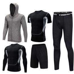Wholesale men sport sets for sale – designer Mens Sportswear Set Male Tracksuit Compression Sports Wear For Men Gym Fitness Clothes Running Jogging Workout Sport Suits