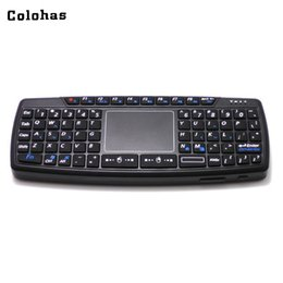 qwerty keyboard touchpad mouse Australia - 69 Keys Qwerty Keypad Mini Keyboard 2.4ghz Wireless Fly Air Mouse Combo Smart Touchpad For Computer Tv Box Htpc Black T190624